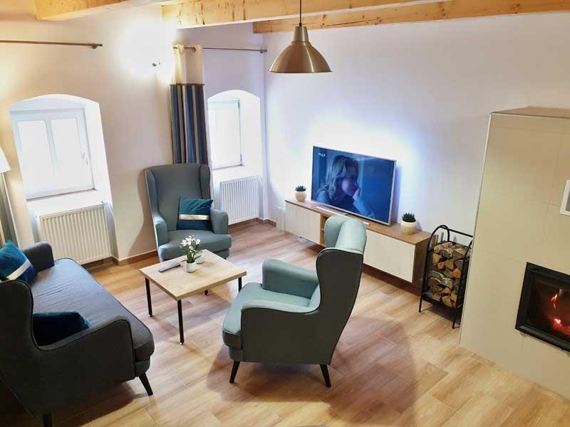 Apartmán Rosenberg I. | obývací pokoj